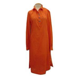 Tory Burch light cotton boho midi tunic dress Sz 8